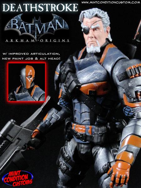 "Custom Deathstroke (Arkham Origins) 6"" DC Universe Action Figure"