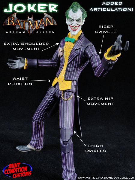 Custom Joker (Arkham Asylum) w/ Added Articulation DC Universe Action Figure