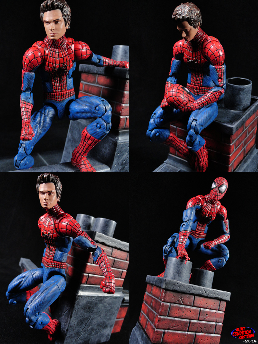 "Custom Amazing Spider-Man 2 (W/ Magnetic Feet) 6"" Marvel Legends Action Figure"