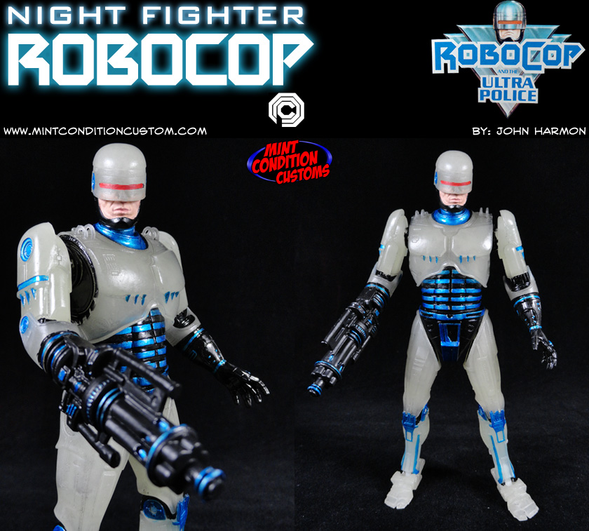 Custom Night Fighter Robocop (w/ Gun Arm) Action Figure