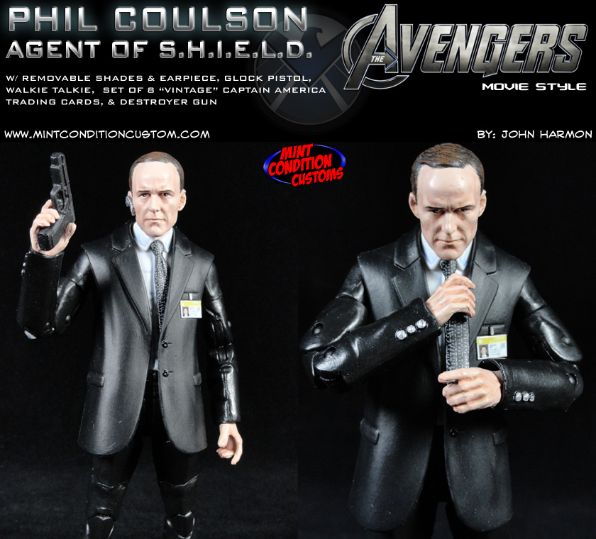Custom Agent Phil Coulson (Movie Style) Marvel Legends Action Figure