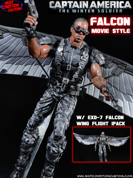 Custom Falcon (Movie Style) Marvel Legends Action Figure
