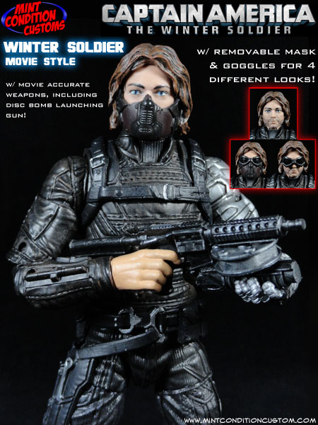 Custom Winter Soldier (Movie Style) Marvel Legends Action Figure
