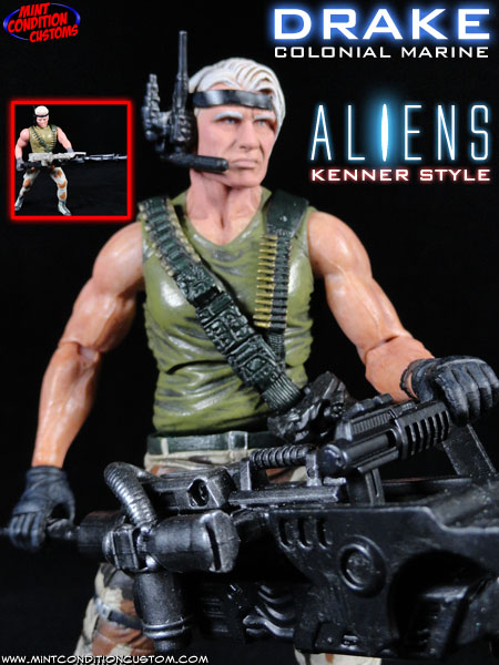 Custom Aliens Drake (Kenner Style) NECA Action Figure