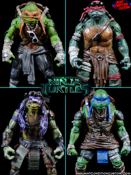 Custom Teenage Mutant Ninja Turtles (2014 Movie Accurate) Action Figure Set