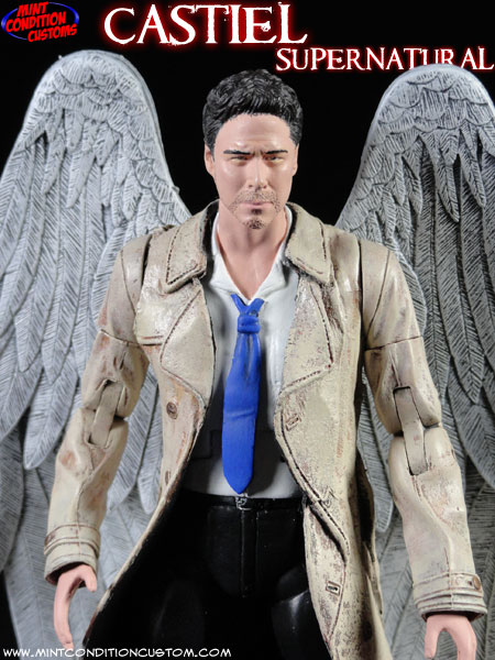 Custom Supernatural Castiel the Fallen Angel 6″ Action Figure
