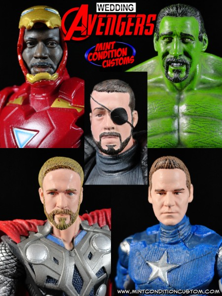 The Wedding Avengers (Groomsmen & Groom Gifts) Custom Action Figures