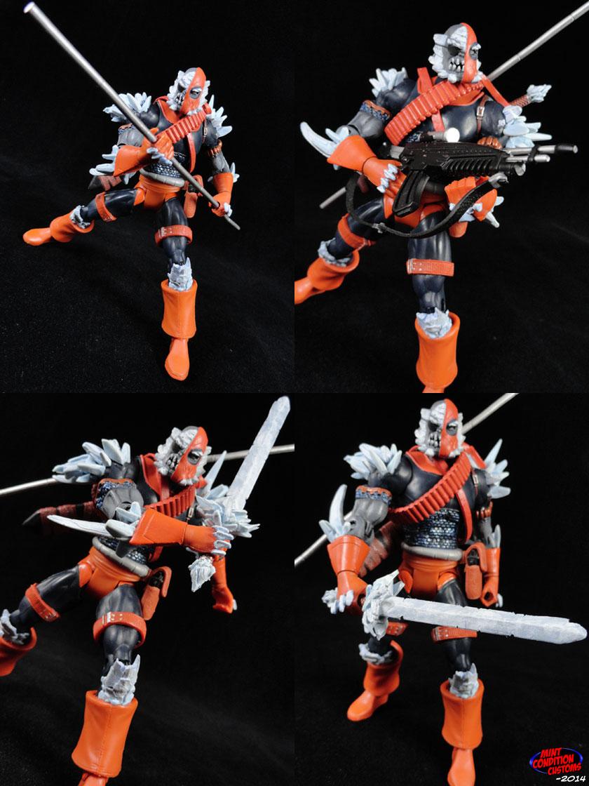 """Custom Doomstroke (Doomsday/Deathstroke Amalgam) 6"""" DC Universe Action Figure"""