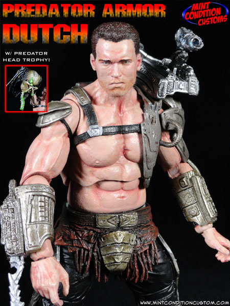 Predator Armor Dutch Schaefer (Movie Concept) NECA Custom Action Figure