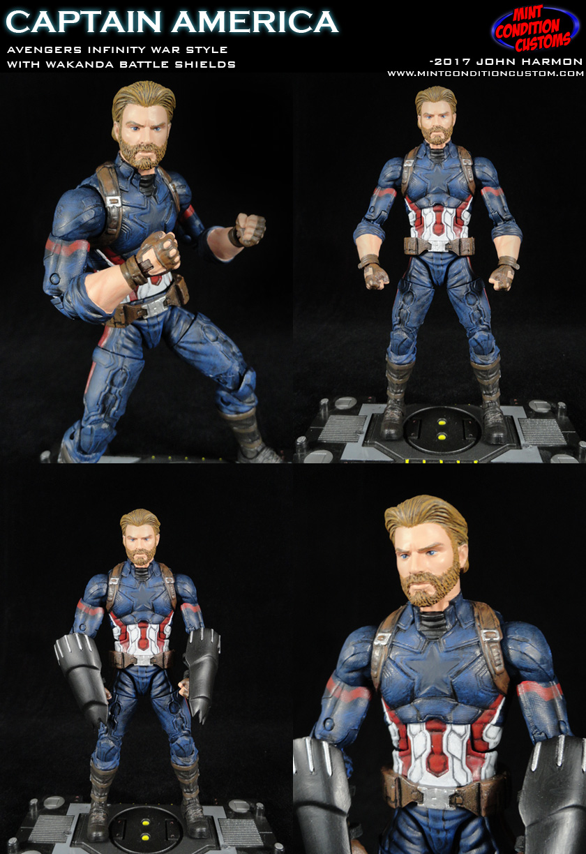 Avengers Infinity War Captain America Nomad Marvel Legends Custom Action Figure