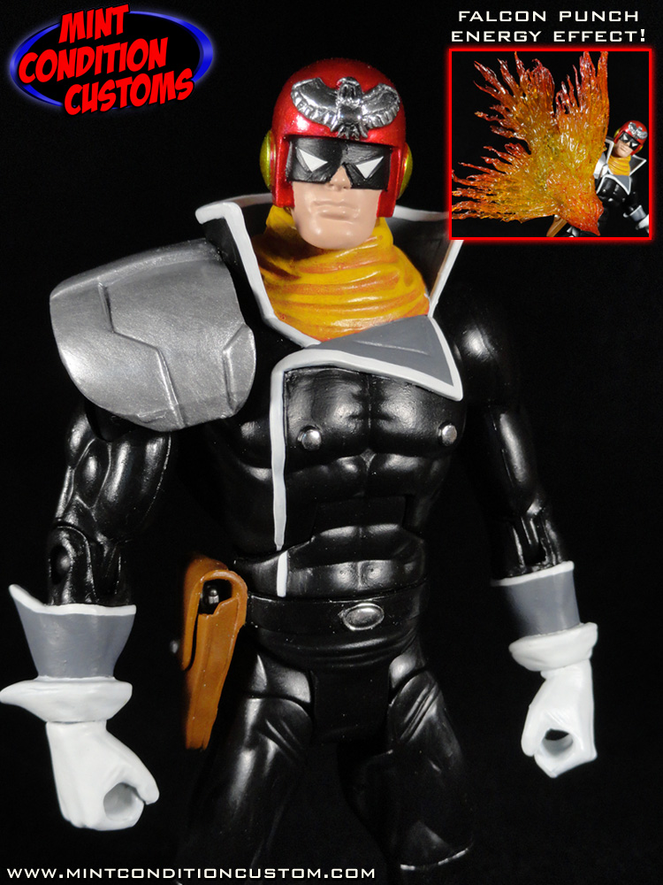 Captain Falcon Super Smash Bros Melee Video Game Custom Action Figure