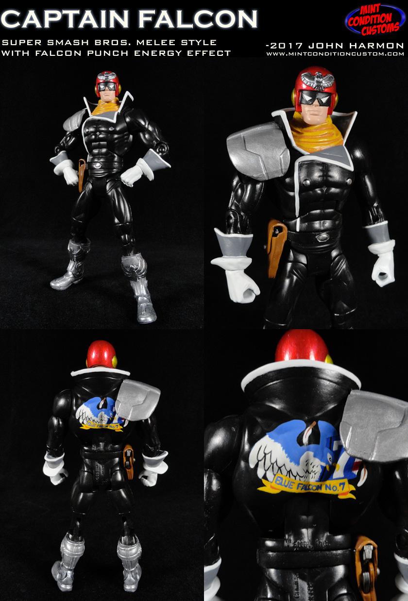 Captain Falcon Super Smash Bros Melee F-Zero Video Game Custom Action Figure